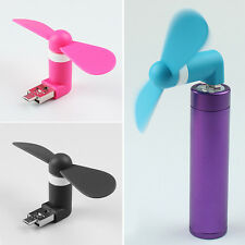 ✔ 2 In 1 Mini Micro USB Mobile Fan Portable For Powerbank / Android Mobile/ PC ✔