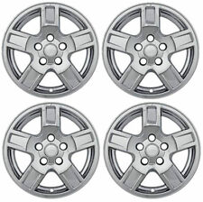 "Brand New Set of 4 17"" Chrome Wheel Skins for 2005-2007 Jeep Grand Cherokee"