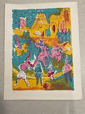 SIGNED By Leo Castelli Clowns and Ponies Dancing Girls Print 36/180
