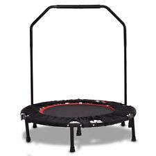 Fitness Trampoline Mini Foldable With Bar Urban Rebounder Bouncing Exercise