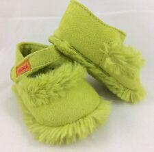 Chaussons souples CATIMINI naissance 0-3 mois vert fausse fourrure douce// neuf