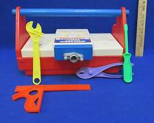 Vintage Fisher Price Power Workshop Tool Box Bench & Screwdriver Pliers Wrench