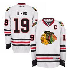 Jonathan Toews Reebok Chicago Blackhawks Official Road White Premier Jersey Men