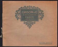 Catalogue Maison Grison. Fourrures. 1912-1913