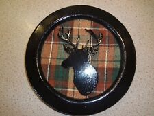Handcrafted wall plaque of stags head