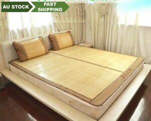 Bamboo bed mat cool summer mat both side sheet rug floor mat 夏季双面折叠原色竹席凉席