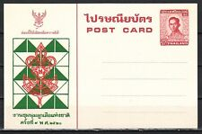 Thailand 1977 Agency Issued Postal Card for 9th National Scout Jamboree.