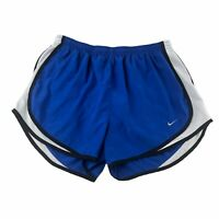 NIKE Dri-Fit Womens Tempo Running Shorts Lined Cobalt Blue Size Large FLAW
