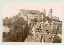 Nuremberg, le château impérial Vintage albumen print  Tirage albuminé  11x16