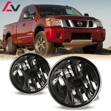 For Nissan Titan 04-15 Smoke Lens Pair Bumper Fog Light Lamp OE Replacement DOT