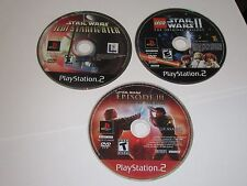 Playstation 2 PS2 Lot Of 3 STAR WARS Games - Disc Only
