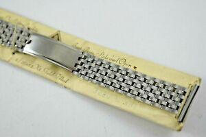 Vintage JB Champion Premium 1/20 12K White Gold Filled Band 19mm lot.14
