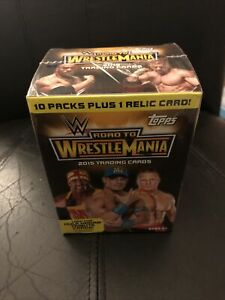 2015 Topps Road To WrestleMania Factory Sealed Blaster Box