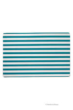 Set 4 Turquoise & White Beach-Stripes Kitchen Table Place Mat Bistro Placemats