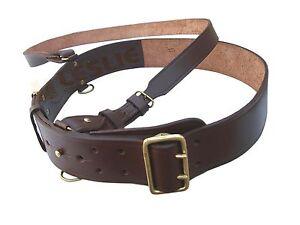 Leather Sam Browne Belt, BROWN Colour, Size 46,  LI-AUCC-0009
