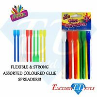 10 x Glue Spreaders - Plastic Kids PVA Paste / Glue / Adhesive Spatulas - Crafts