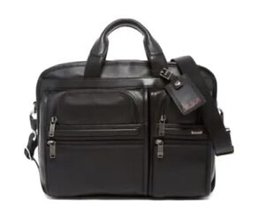 Tumi T-Pass Medium Screen Laptop Slim Leather Briefcase NWT $545