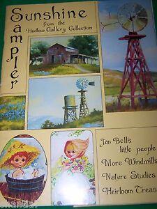 SUNSHINE SAMPLER 1980 JAN BELL EARLDINE HUDLOW WINDMILLS DRAW HOMESTEADS TOLE