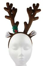 Christmas Reindeer Antlers Hairband Headband Xmas Festive Party Fancy Dress Head
