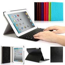 DEUTSCHE QWERTZ Tastatur für iPad 2 3 4 Schutzhülle Bluetooth Keyboard Cover