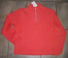 1122  Tommy Bahama Neon Orange Long Sleeve 1/4 Zip Cotton Shirt Top L