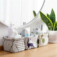 1 Pcs Storage Box Cotton and Linen Fabric Foldable Storage Box Desktop Organizer