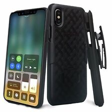 For Apple Iphone XS Max / Xs / Xr Holster Shell Combo Kickstand Clip Case Cover