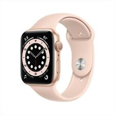 Apple Watch Series 6 44mm Gold Aluminum Case with Pink Sand Sport Band GPS- NEW