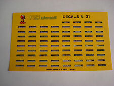DECALS KIT 1/43 TARGHE KOENIG FERRARI DINO GTO MONDIAL DECAL
