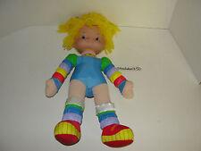 "Vintage Rainbow Brite Plush Doll 18"" 1983 Hallmark Yellow Hair Stuffed Toy Rare"