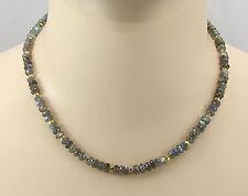 Labradorit Kette Labradorit facettiert Halskette für Damen 45 cm