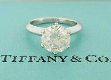 Tiffany & Co 2.37 ct Platinum Round Diamond Engagement Ring