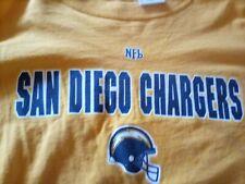 Vintage Retro.logo San Diego Chargers yellow T shirt NFL size XL