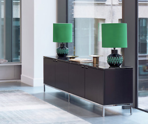 Florence Knoll Credenza Black marble top