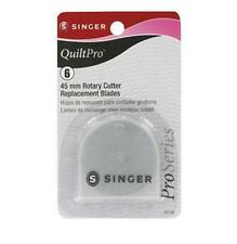 New Singer QuiltPro Six (6) of 45mm Rotary Cutter Replacement Blades