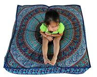 Elephant Mandala Indian Large Floor Pillow Bohemian Seating Cushions Cover Pouff