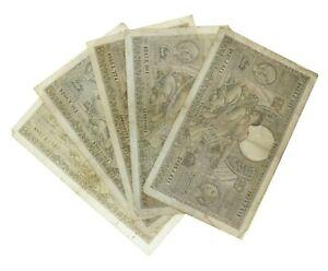 Belgium - 100 Franc Banknotes (6) - 1936/1938/1939 - F/VF