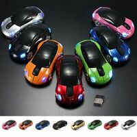 Gaming Mice Racing Car Shaped Wireless Mouse USB Receiver For PC Laptop Macbook