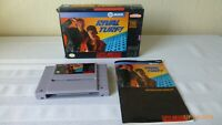 Rival Turf Super Nintendo Game Cartridge SNES Box Instructions Tested Working