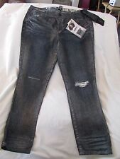"Ladies ""Rewash"" Size 15/16, Black w/silver wash, Curvy Fit,Vintage Reunion Jeans"
