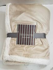 New Field & Co. 7950-51Tn Cambridge Oversized Sherpa Blanket, Tan $58.47
