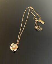 Kate Spade Pick a Posy gold tone Pearl flower necklace NEW