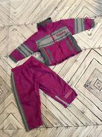 Wilson Vintage Girls 12 Months Track Suit Purple Gray Jacket Pants