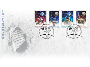 2019 The Moon Landing 50 Years On (P&S Stamps) First Day Cover