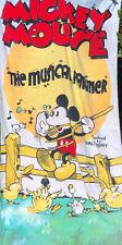 "VTG Disney Mickey Mouse ""The Musical Farmer"" Collectible Beach/Bath Towel"