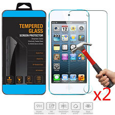 2x TEMPERED GORILLA GLASS SCREEN PROTECTOR For Apple iPod Touch 4 USA