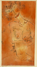 Paul Klee Reproduction: Lady Inclining Her Head - Fine Art Print
