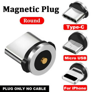 Magnetic Charging Connectors Plugs iOS Android Type-C Micro USB Cable Adapters