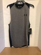 Under Armour Men's HeatGear Sleeveless T-Shirt (Charcoal/Gray, S)