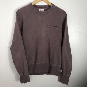 Todd Snyder x Champion Crew Neck Pocket Sweatshirt Size Medium Faded Purple